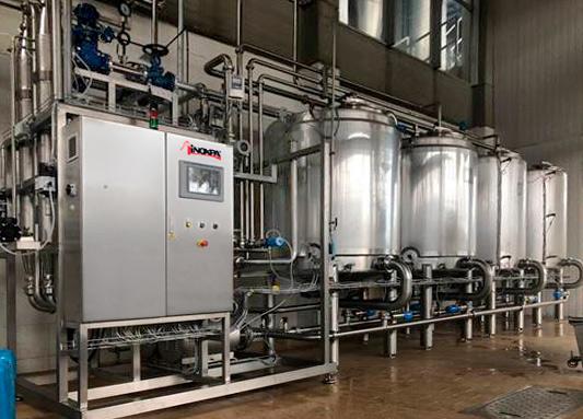 Nettoyage optimal d'une installation de production de produits laitiers