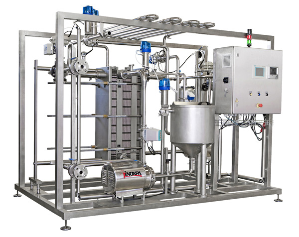 Automated pasteurizers for liquid candy