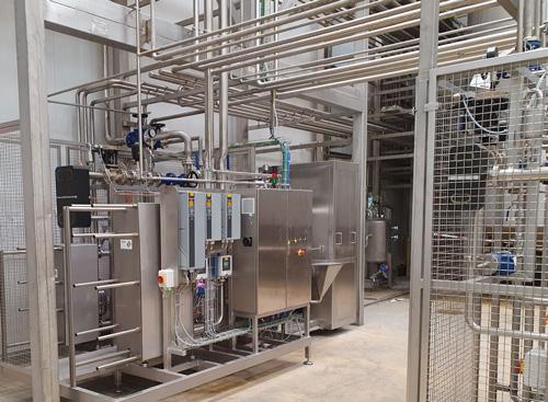 Ligne destinée à la production de différents produits laitiers